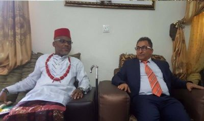 IPOB Leader, Nnamdi Kanu Hosts Turkish Diplomat In His Home