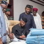 Osinbajo Signs N7.441trn 2017 Budget Into Law