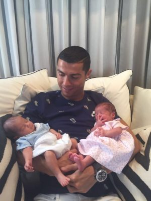 Cute! Cristiano Ronaldo Shares Photo Of His Newborn Twins
