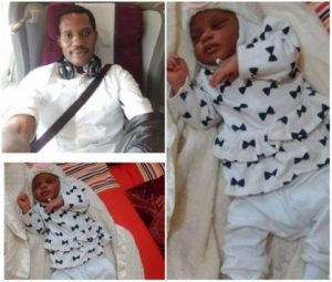 Seun Egbegbe's Daughter Christened While He's In Prison