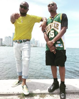 Olamide And Davido On Set For New Music Video