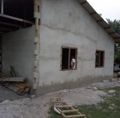 Davido Is Keeping To His Promises, Builds House For Young Utibe And Mother