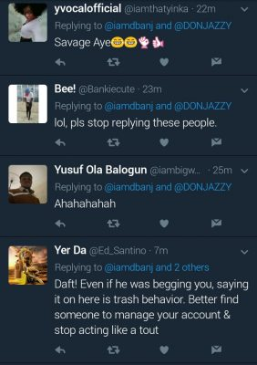 See Fans' Reactions To D'banj When He Said Don Jazzy Has Been Begging Him To Return