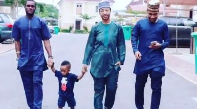 Father's Day: Tonto Dikeh Shows Up Dressed Like A Man To Her Son's School