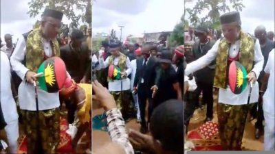 Women Throw Their Wrappers For Nnamdi Kanu To Walk On