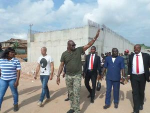 Fayose Storms Out In Military Outfit To Supervise Projects In Ekiti