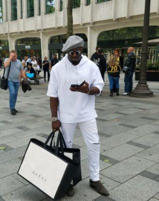 Nollywood Actor, Jim Iyke Goes Gucci Shopping In Paris