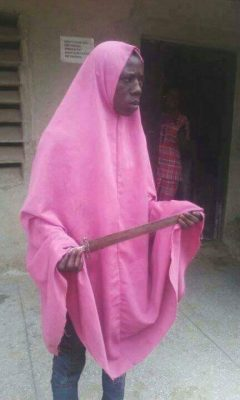 EXPOSED! Man Who Wears Hijab To Rob People Caught In Minna