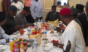 Muhammadu Buhari meets with APC governors in Abuja house London