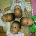 Adorable Photos Of Nigerian Quadruplets As They Turn 7
