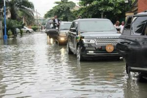 Nyesome Wike visits Flooded areas in Port Harcourt