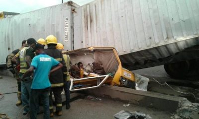 5 Passengers Killed As Container Falls On Commercial Bus In Ojota, Lagos