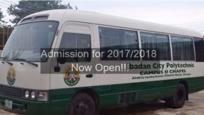 Ibadan City Polytechnic Admission For 2017/2018 [See Requirements, Courses Available]