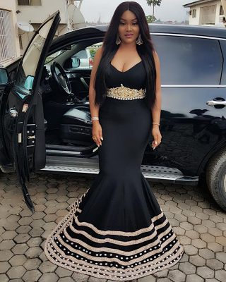 Mercy Aigbe All Glam As She Steps Out For Saidi Balogun 50th Birthday