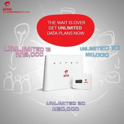 Introducing, Airtel Unlimited Data Plan - See Subscription Codes