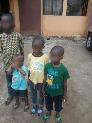 Man Dumps His 4 Kids At Agege LGA With Note 'I Can't Feed Them Cos Of Hardship'