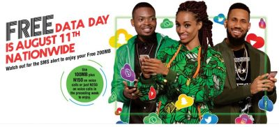 Glo Declares Friday, August 11 'Free Data Day' For All Subscribers - See Details