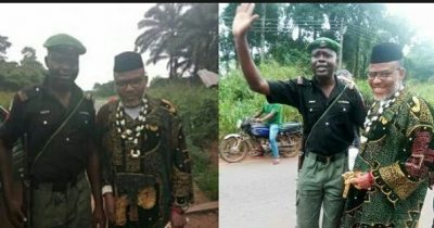 Nigerian Police Force To Punish Officers Taking Pictures With Nnamdi Kanu