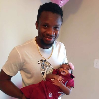 Proud Dad! Onazi Ogenyi Shares Photos Of His Cute Daughter