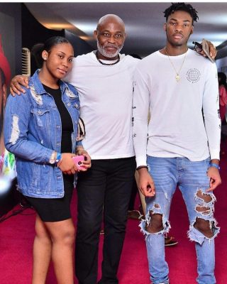 Richard Mofe Damijo and children The Falz Experience