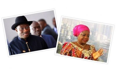 Lauretta Onochie and Goodluck Jonathan