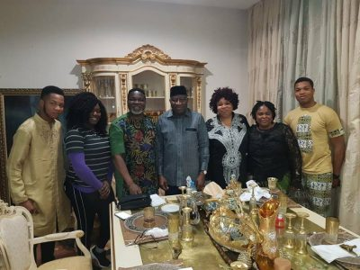 Goodluck Jonathan in his house