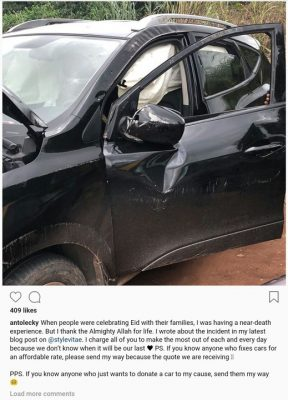 Anto Big Brother in a car accident