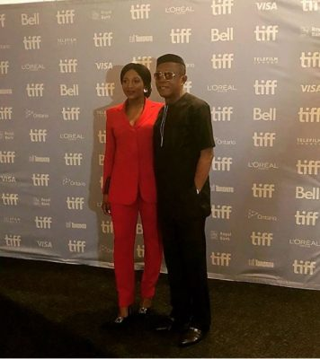 Genevieve Nnaji and Nkem Owoh at Lion Heart Premiere TIFF 2018 Toronto