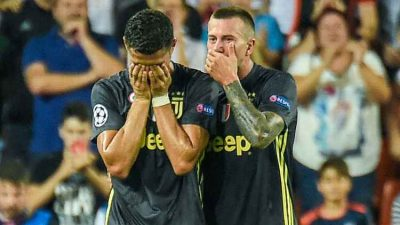 Ronaldo cries after being red carded