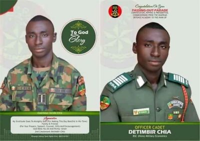 Detimbir Chia becomes Army Officer