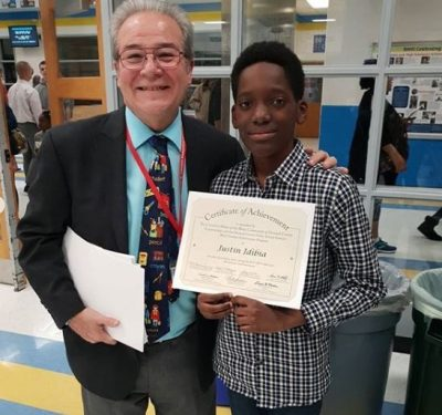 2Baba's Son, Justin Bags Award For Academic Excellence In The US
