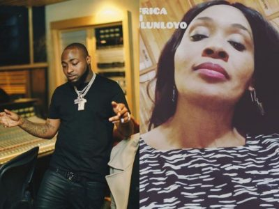 Davido and Kemi Olunloyo