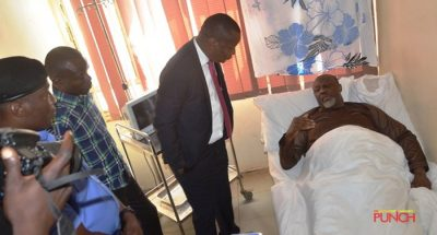 Dino Melaye in hospital bed