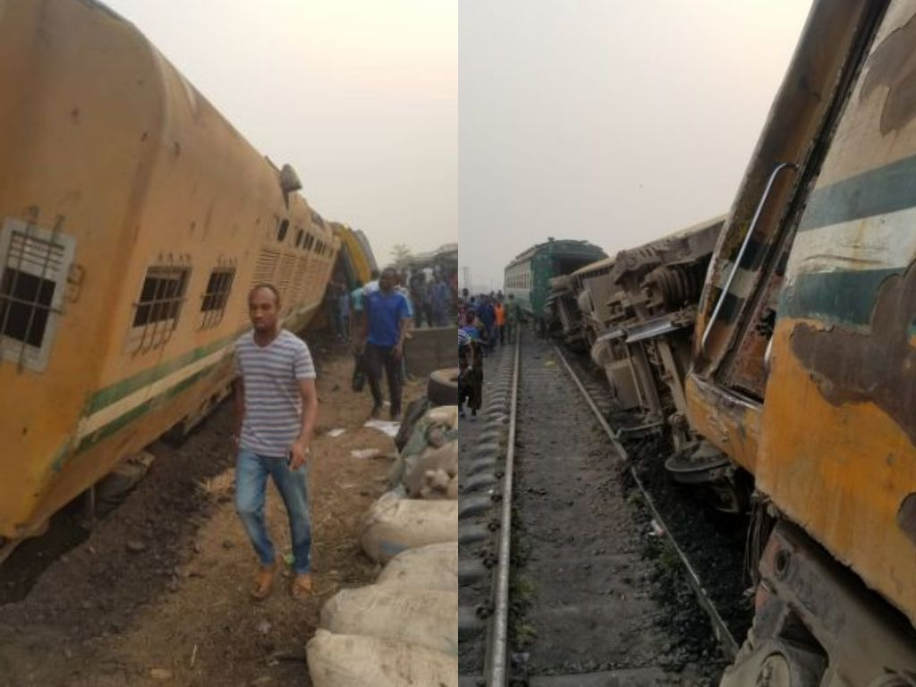 Train derails in Mangoro Agege Lagos