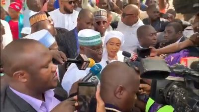 Atiku at his polling unit wins Buhari in Lagos