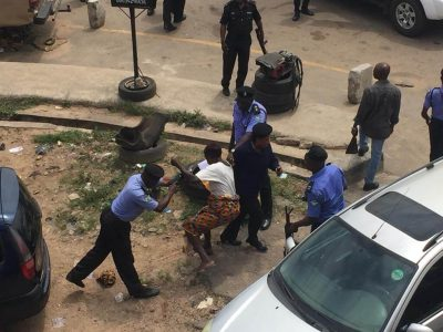 Police beat up 70 year old woman in Osun