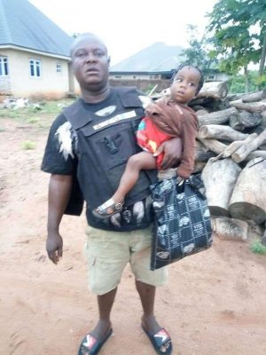Child Abandon With Bag Containing Clothes