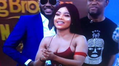 Tacha and 2face 2baba at BBNaija