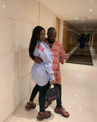 Davido Films Wife-To-Be Cooking For Him