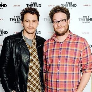 Franco with fellow actor Seth Rogen