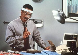 Eddie Murphy as Dr. Dolittle in an earlier version of the character