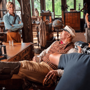 The two leads share a scene in Jungle Cruise