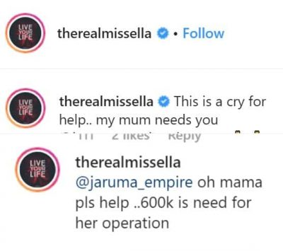 Ella Seeks Help For Her Mother's Ill-Health