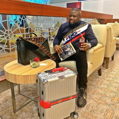 """""""I Can't Kill Myself"""" - Hushpuppi Says As He Dine In Plane"""