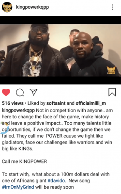 King Power Sets To Sign Davido For $100M