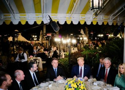 Brazilian President dines with Trump before getting infected