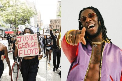 """Americans Chant Burna Boy's """"Ye"""" As They Protest Justice For George Floyd"""