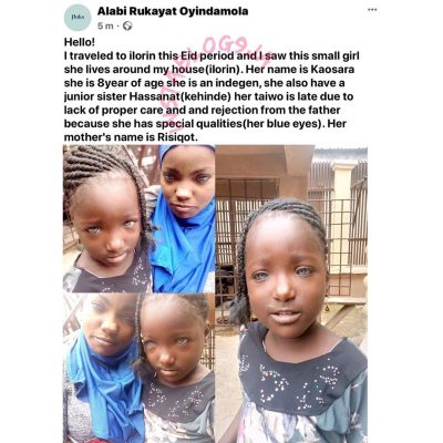 Nigeria Man Rejects Kids Because Of Their Eyes Color In Ilorin, Kwara State