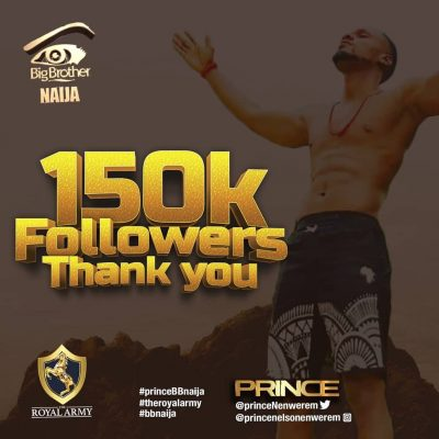 #BBNaija: Prince Instagram's Account With Over 150k Followers Hacked