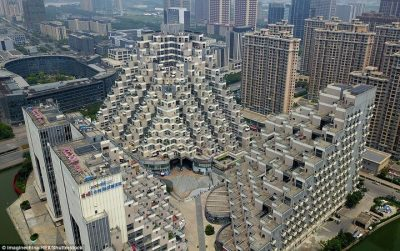 Pyramid-shaped building spotted in China